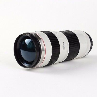 Cannon Camera Lens Cup Travel Coffee Mug Stainless Steel Thermal Water Cup Gift