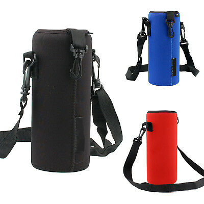 1000ML Water Bottle Carrier Insulated Cover Bag Holder Strap Pouch Outdoor GUT