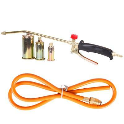 Portable Propane Torch W/ 3 Nozzles Lawn Landscape Weed Burner Ice Snow Melter