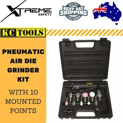 KC Tools Air Die Straight Grinder Kit with 10 Mounted Points Pneumatic