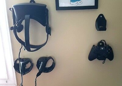 Oculus Rift CV1 Wall Mounts Touch Headset Remote & Xbox one Controller Storage