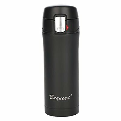 Insulated Stainless Steel Vacuum Flask Travel Coffee Mug 12 oz, Double Walll