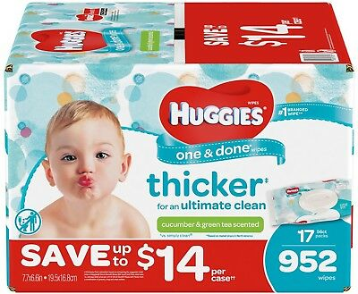 One and Done Baby Wipes, Scented (952 Ct.) Huggies