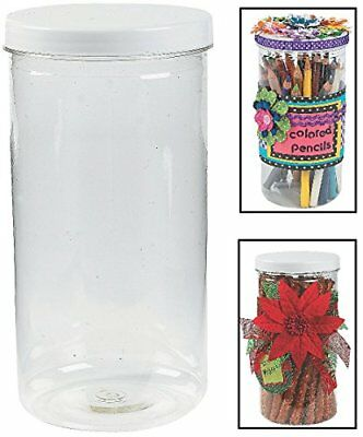 "Tall Jars with Twist On/off Lid. (12 Pack) 8"" X 4"". Plastic."