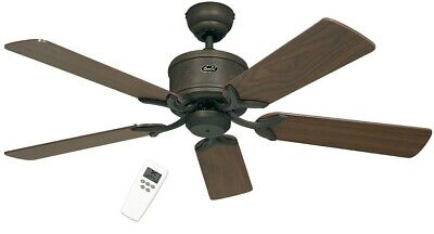ENERGY SAVING CEILING FAN Eco Element Brown Antique INCLUDING REMOTE CONTROL