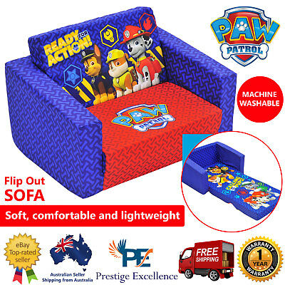 NEW Kids Flip Out Sofa Paw Patrol Characters Toddler Flipout Day Chair Couch Bed