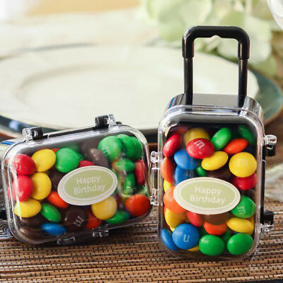 Personalized Mini Travel Suitcase Birthday Baby Party Wedding Favors Candy Box