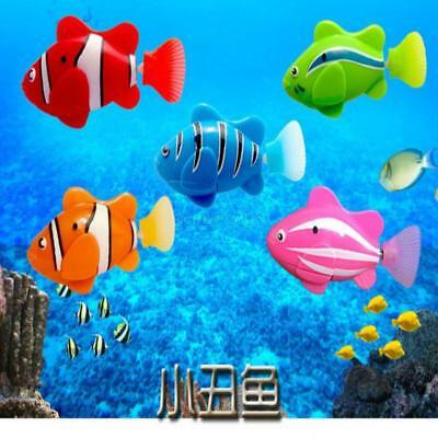 AU Swimming Robot Fish Activated in Water Clownfish Electronic Toy Gift For Kids
