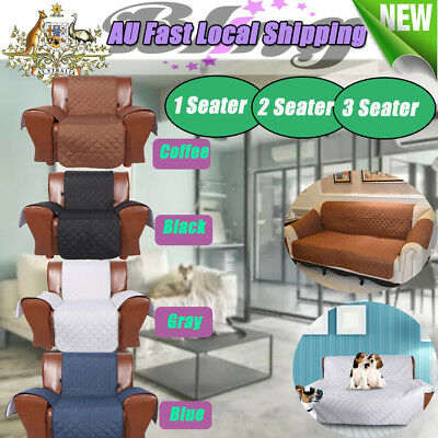 Removable Nonslip Quilted Sofa Couch Lounge Recliner Furniture Protector Cover