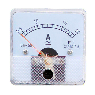 1PC Class 2.5 Analog Panel AMP Current Meter AC 0~20A Ammeter DH-50