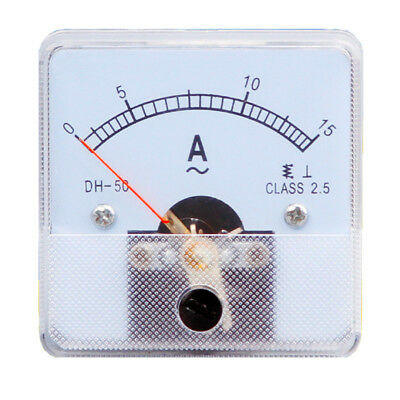 1PC Class 2.5 Analog Panel AMP Current Meter AC 0~15A Ammeter DH-50