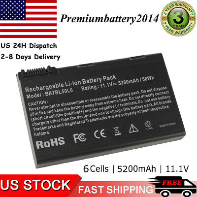 Laptop Battery for Acer Aspire 3690 5100 3100 3102 5610 5515 5610Z BATBL50L6 US
