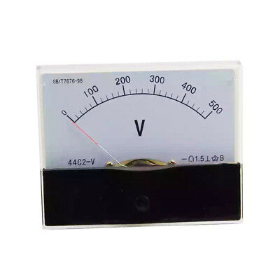 1PC DC 500V Analog Panel Volt Voltage Meter Voltmeter Gauge 44C2