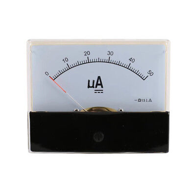 DC 0-50uA Scale Range Current Panel Meter Amperemeter Gauge 44C2 Ammeter Analog
