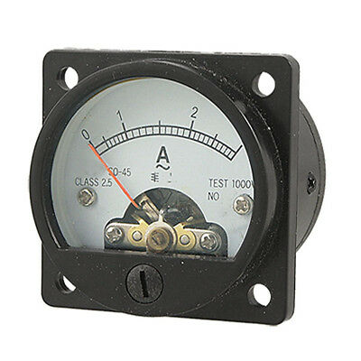 Ammeter SO-45 Class 2.5 Accuracy AC 0-3A Round Analog Panel Meter Black