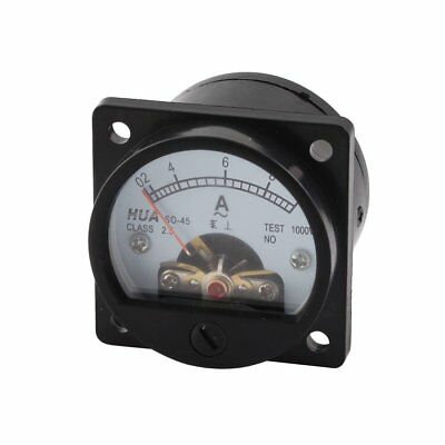 Ammeter SO-45 Class 2.5 Accuracy AC 0-10A Round Analog Panel Meter Black