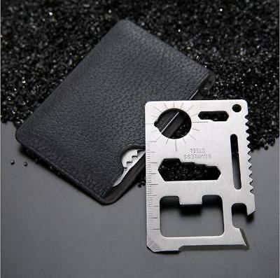 Card Credit Multi Tool Survival Pocket Camping Knife Outdoor Wallet Size
