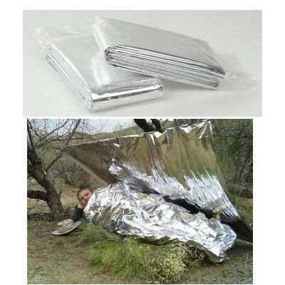 2x First Aid Survival Foil Emergency BLANKET Rescue Waterproof Thermal Camping