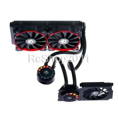 ID-COOLING Hunter Duet Double Pump Water Cooler with Red LED Radiator PWM Fans