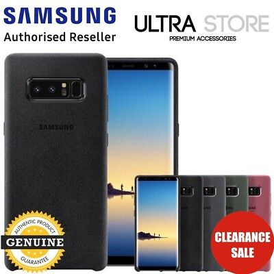 GENUINE Original Samsung Galaxy Note 8 ALCANTARA Cover Slim Back Case