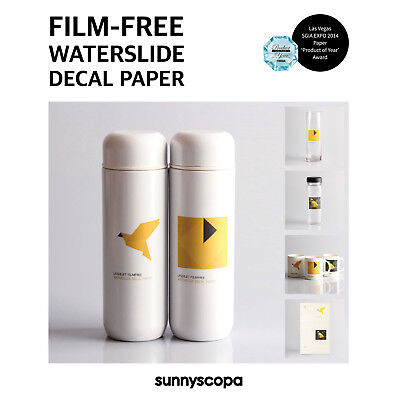 Sunnyscopa DIY Film-free A/B No-cut Waterslide Decal Transfer Paper A4 10 Sheets