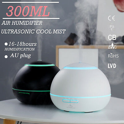 GX Diffusers LED Essential Oil Ultrasonic Humidifier Aroma Diffuser Purifier Air