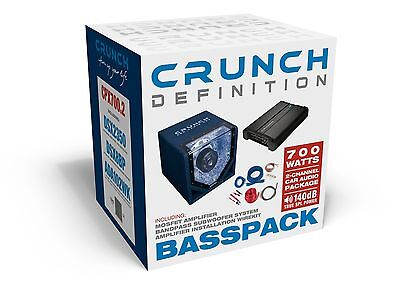 Subwoofer Final Stage Package Crunch cpx700.2 Complete sounpaket bassanlage Car