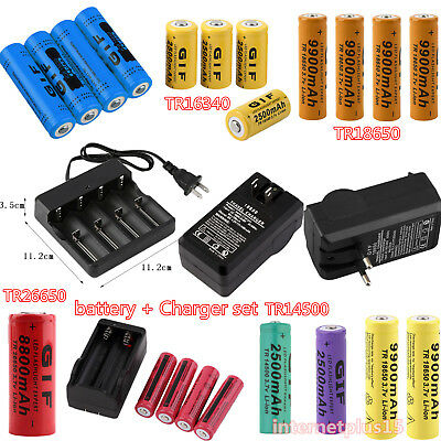 3.7V 2300~12000mAh 18650/26650/16340/14500 Rechargeable Li-ion Battery for T