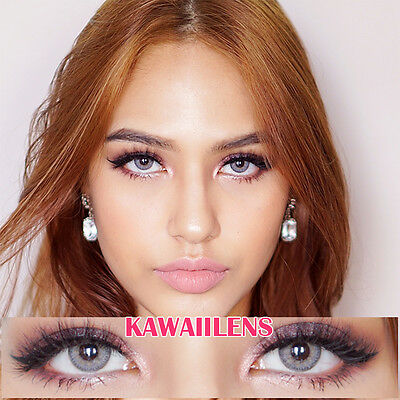 Kontaktlinsen Color Contact Lenses Soft Power Lens Makeup Eyes Mini Sheer Gray