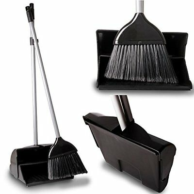 THE CHEMICAL HUT® Professional Long Handled Lobby Swing-Up Dustpan & Stiff