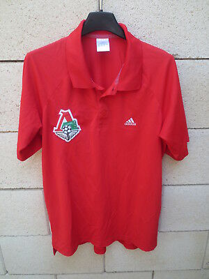 Polo LOKOMOTIV MOSCOU Moscow ADIDAS shirt rouge football Russie 3 M