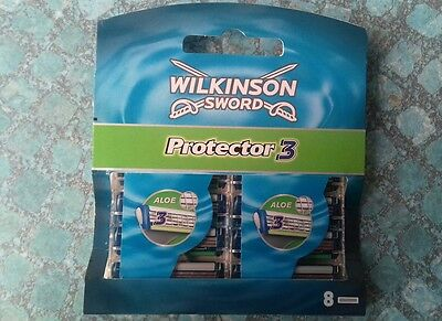 LOT 2 x 4 LAMES WILKINSON SWORD PROTECTOR 3 NEUVES