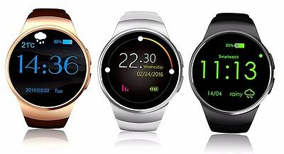 3G KW18 HEART RATE Smart Wrist Watch SMARTWATCH Phone for ALL Android & IPhone
