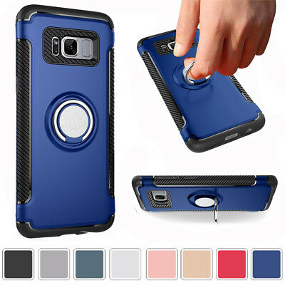 For Samsung GALAXY Note 8 Luxury Shockproof Ring Stand Holder Case Armor Covers