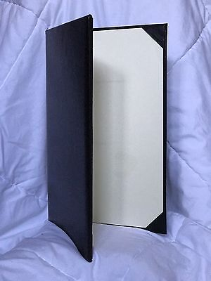 Used Black Leather Menu Covers