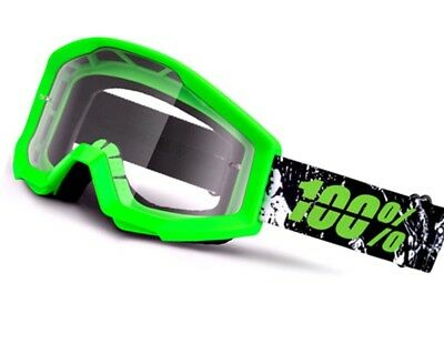 Mx Moto Cross Brille 100% Strata Crafty Lime Grün Enduro