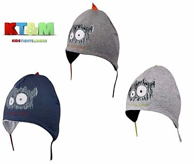 Baby Kid Boy Cotton Spring Autumn Monster Face Hat Cap with strings 4-6 months