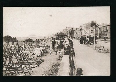 Somerset BURNHAM-ON-SEA The Front Used 1921 PPC local pub Bunting