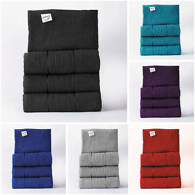 Set Of 4 Pure Egyptian Cotton Towels Bathroom Gift Set Jumbo Sheet Bale Towels