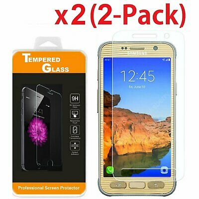 2-PACK Premium Tempered Glass Screen Protector Film for Samsung Galaxy S7 Active