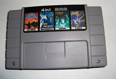 Aero Fighters + Space Megaforce + Imperium + R-Type 3 - 4IN1 SNES NTSC/US/CA