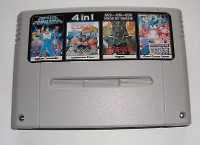 Captain Commando + Undercover Cops + Hagane + Ghost Chaser - 4 in 1 SNES PAL EU