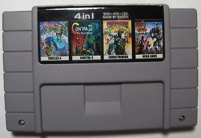 TMNT 4 + Contra 3 + Sunset Riders + Wild Guns - 4IN1 SNES NTSC/US/CA ENGLISH