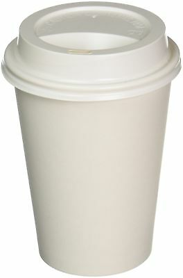 100 Sets 12 oz Paper Coffee Cup Solo Disposable White Hot Cup with Cappuccino...