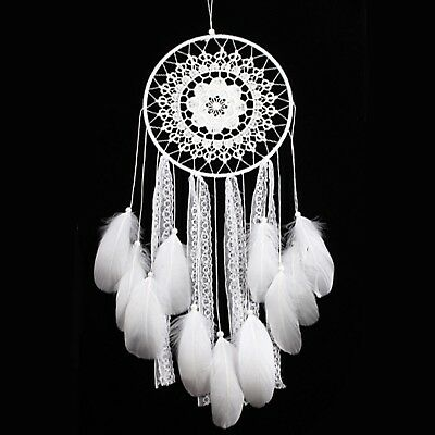 Ricdecor Handmade Indian Real Feathers Dream Catcher Wall Hanging Car Hanging...