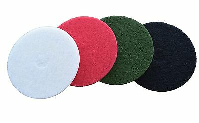 Floor Maintenance Buffing Cleaning Polishing Pad Tile Stone Wood  2pk Red 15""
