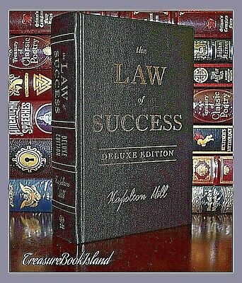 Law of Success by Napoleon Hill New Sealed Leather Bound Deluxe Collectible Gift