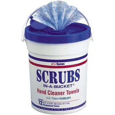 "Dymon 42272 Scrubs In A Bucket Hand Cleaner Towels 72 Count 12"" W x 10"" L"