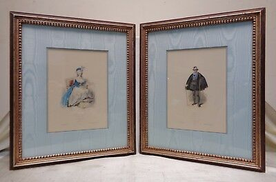 Pair of Very Fine Vintage French Colored Engravings: Marie Antoinette & Henry IV