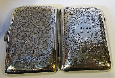 Solid Silver Case by John Rose 1919 Hallmarked in Birmingham, Initialed
